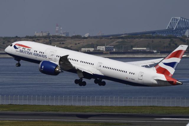 さちっちさんが、羽田空港で撮影したブリティッシュ・エアウェイズ 787-9の航空フォト(飛行機 写真・画像)