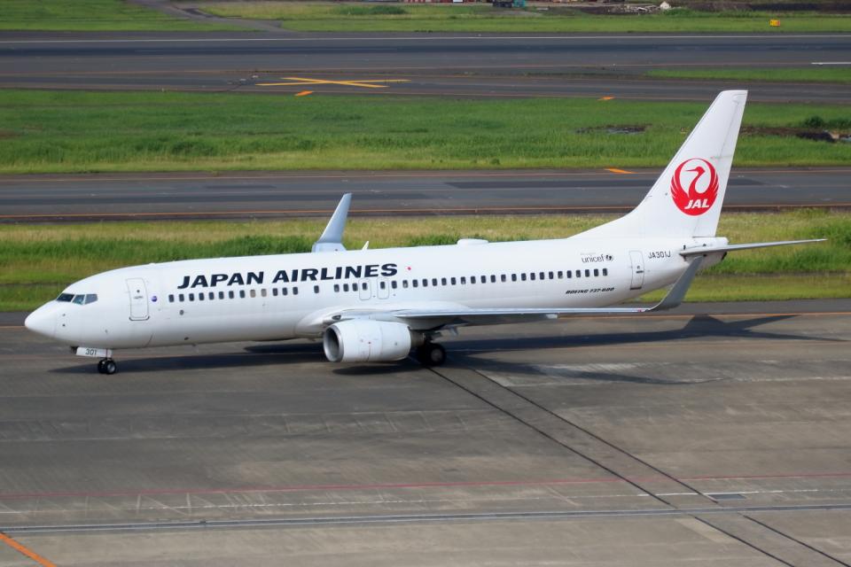 ▲®さんの日本航空 Boeing 737-800 (JA301J) 航空フォト