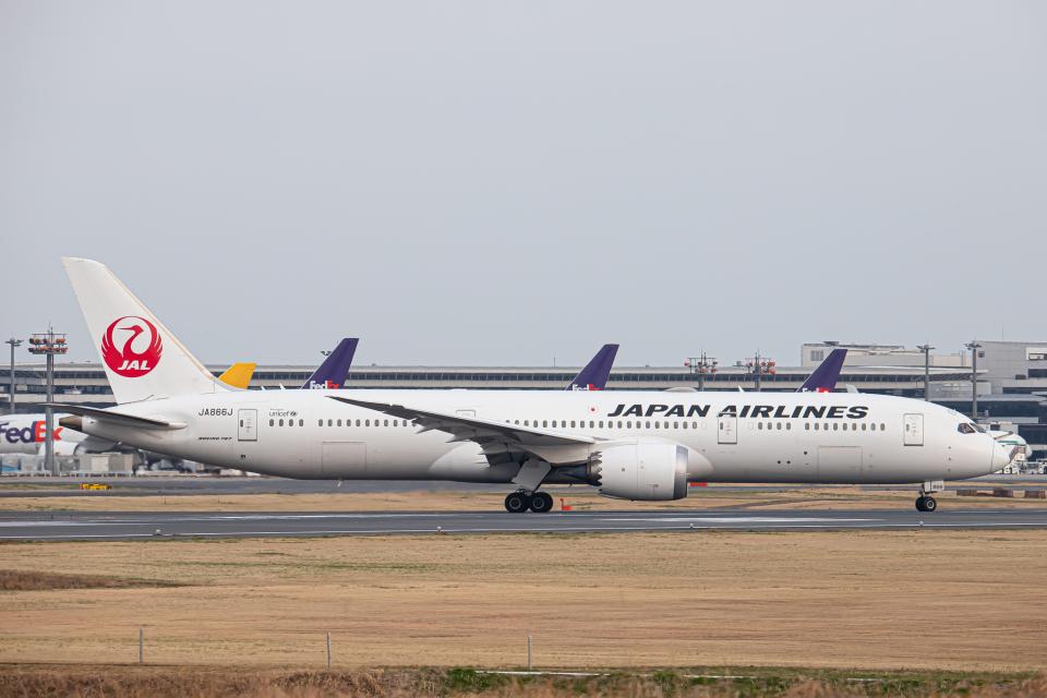 SGR RT 改さんの日本航空 Boeing 787-9 (JA866J) 航空フォト