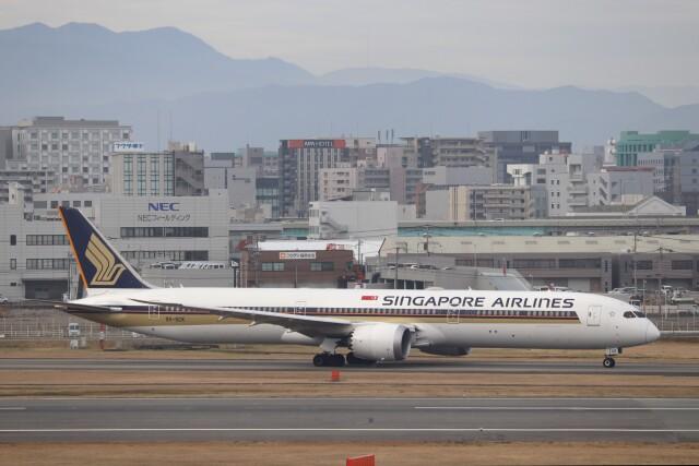 hanatomo735さんが、福岡空港で撮影したシンガポール航空 787-10の航空フォト(飛行機 写真・画像)