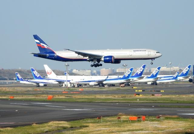 チャレンジャーさんが、羽田空港で撮影したアエロフロート・ロシア航空 777-3M0/ERの航空フォト(飛行機 写真・画像)