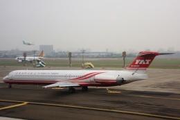 S.Hayashiさんが、高雄国際空港で撮影した遠東航空 MD-83 (DC-9-83)の航空フォト(飛行機 写真・画像)