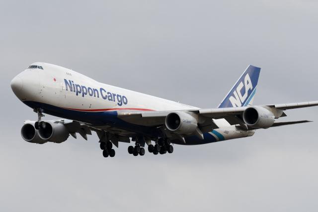 panchiさんが、成田国際空港で撮影した日本貨物航空 747-8KZF/SCDの航空フォト(飛行機 写真・画像)