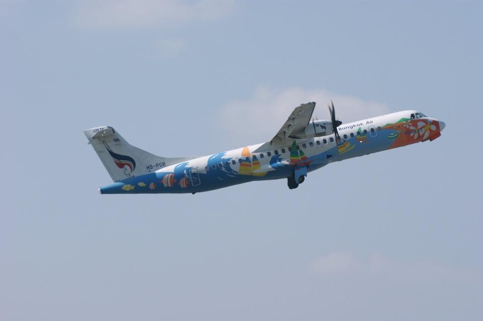 磐城さんのバンコクエアウェイズ ATR 72 (HS-PGB) 航空フォト