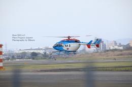 hikaruphotographさんが、名古屋飛行場で撮影した中日新聞社 BK117C-2の航空フォト(飛行機 写真・画像)