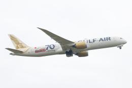 S.Hayashiさんが、ロンドン・ヒースロー空港で撮影したガルフ・エア 787-9の航空フォト(飛行機 写真・画像)