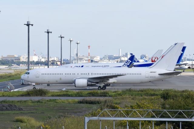 のんきな人さんが、羽田空港で撮影した日本航空 767-346の航空フォト(飛行機 写真・画像)