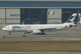 磐城さんが、香港国際空港で撮影したキャセイパシフィック航空 A330-343Xの航空フォト(飛行機 写真・画像)
