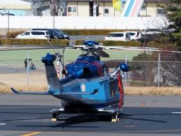 そらりすさんが、松本空港で撮影した長野県警察 AW139の航空フォト(飛行機 写真・画像)