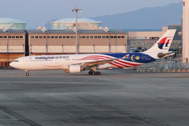 青春の1ページさんが、関西国際空港で撮影したマレーシア航空 A330-323Xの航空フォト(飛行機 写真・画像)