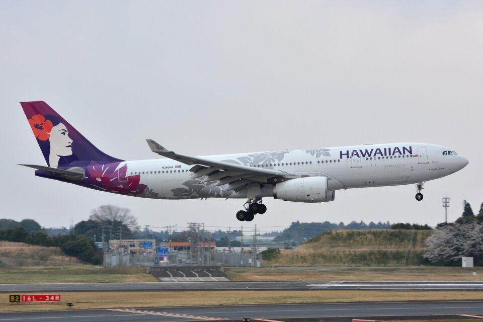 サンドバンクさんのハワイアン航空 Airbus A330-200 (N380HA) 航空フォト