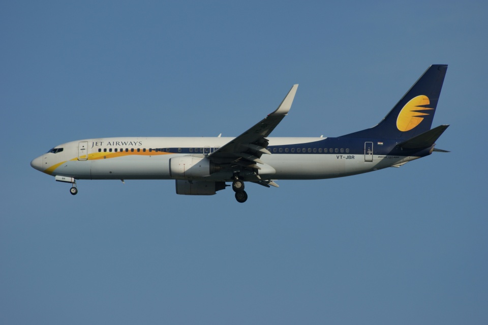 磐城さんのジェットエアウェイズ Boeing 737-800 (VT-JBR) 航空フォト