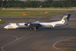 磐城さんが、新千歳空港で撮影したオーロラ DHC-8-402Q Dash 8の航空フォト(飛行機 写真・画像)