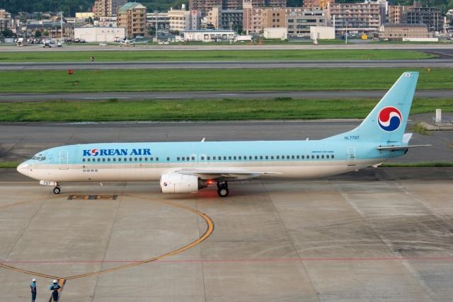 kan787allさんが、福岡空港で撮影した大韓航空 737-9B5の航空フォト(飛行機 写真・画像)