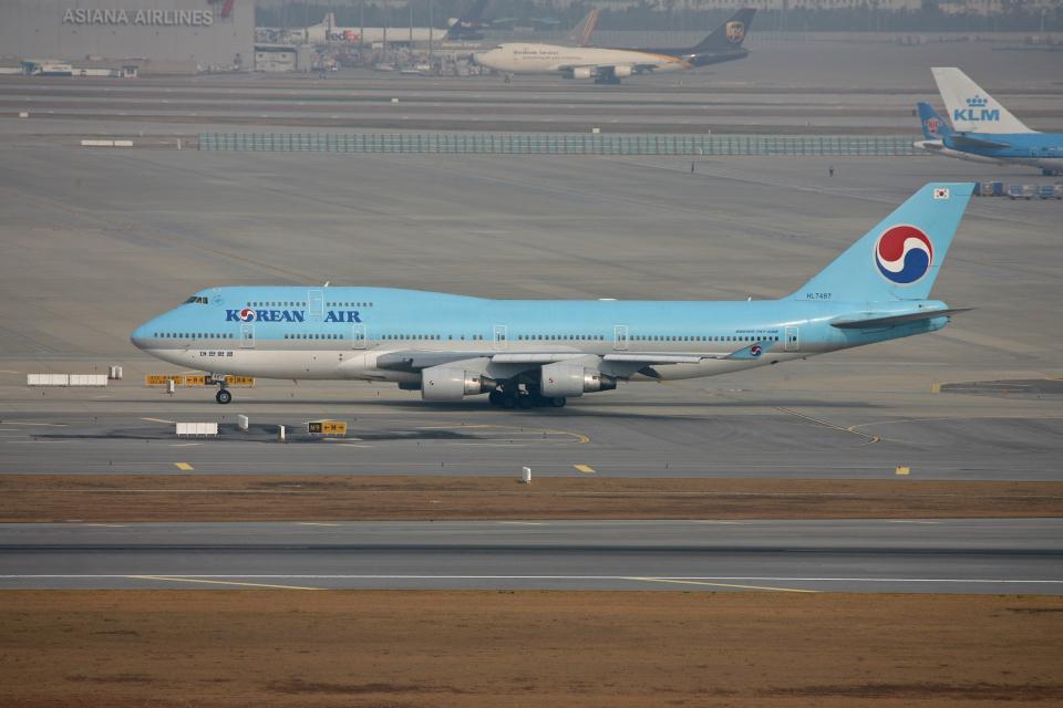 tsubameさんの大韓航空 Boeing 747-400 (HL7487) 航空フォト