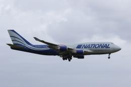 宮崎 育男さんが、成田国際空港で撮影したナショナル・エアラインズ 747-428(BCF)の航空フォト(飛行機 写真・画像)