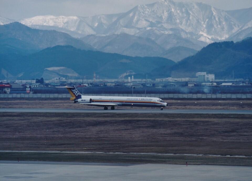 エルさんの日本エアシステム McDonnell Douglas MD-80 (DC-9-80) (JA8261) 航空フォト