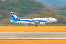 KAMIYA JASDFさんが、広島空港で撮影した全日空 A320-271Nの航空フォト(飛行機 写真・画像)