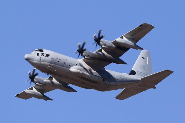 MH-38Rさんが、三沢飛行場で撮影したアメリカ海兵隊 KC-130J Herculesの航空フォト(飛行機 写真・画像)