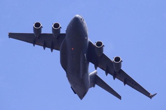 MH-38Rさんが、三沢飛行場で撮影したアメリカ空軍 C-17A Globemaster IIIの航空フォト(飛行機 写真・画像)