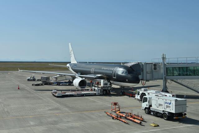 ポン太さんが、山口宇部空港で撮影したスターフライヤー A320-214の航空フォト(飛行機 写真・画像)