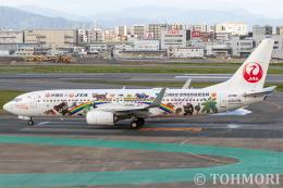 遠森一郎さんが、福岡空港で撮影した日本トランスオーシャン航空 737-8Q3の航空フォト(飛行機 写真・画像)