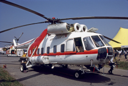 JAパイロットさんが、東京ヘリポートで撮影した朝日航洋 Mi-8PAの航空フォト(飛行機 写真・画像)