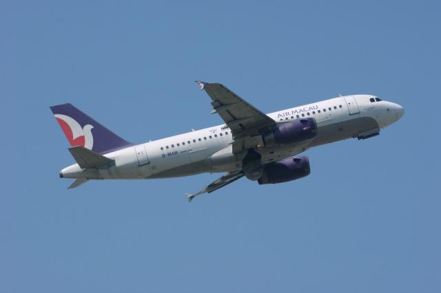 磐城さんが、スワンナプーム国際空港で撮影したマカオ航空 A319-132の航空フォト(飛行機 写真・画像)