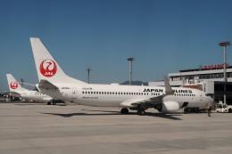 Hiro-hiroさんが、出雲空港で撮影した日本航空 737-846の航空フォト(飛行機 写真・画像)