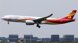 Shotaroさんが、上海虹橋国際空港で撮影した海南航空 A330-343Xの航空フォト(飛行機 写真・画像)