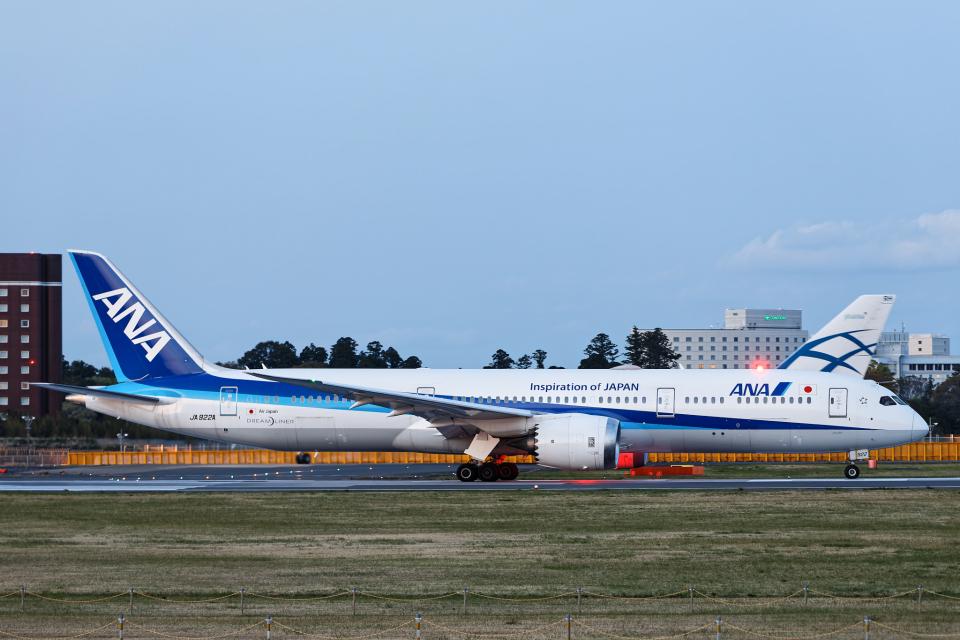 SGR RT 改さんの全日空 Boeing 787-9 (JA922A) 航空フォト