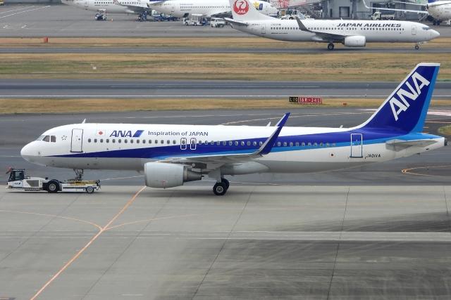 チャレンジャーさんが、羽田空港で撮影した全日空 A320-214の航空フォト(飛行機 写真・画像)