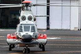 T spotterさんが、東京ヘリポートで撮影した朝日航洋 AS332L Super Pumaの航空フォト(飛行機 写真・画像)
