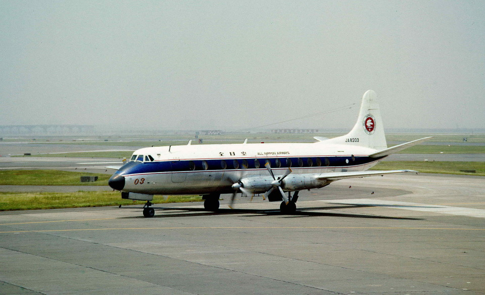 Y.Todaさんの全日空 Vickers Viscount (JA8203) 航空フォト