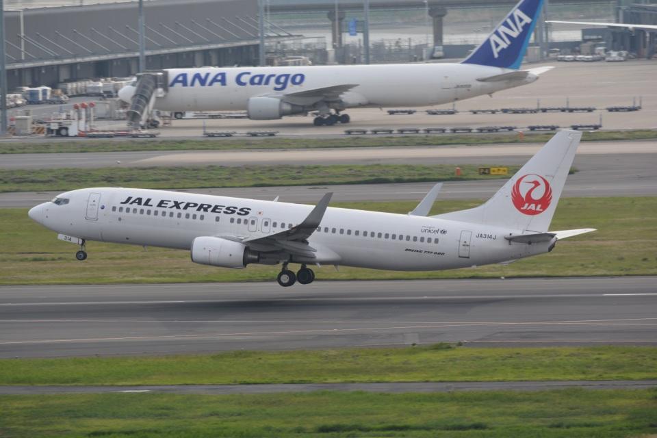 LEGACY-747さんのJALエクスプレス Boeing 737-800 (JA314J) 航空フォト