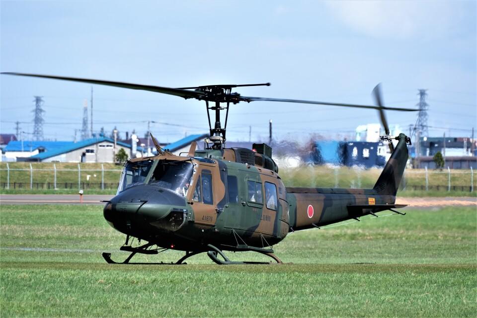 hidetsuguさんの陸上自衛隊 Fuji UH-1J (41876) 航空フォト