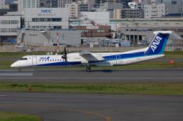 (新)ふぁんとむ改さんが、福岡空港で撮影したANAウイングス DHC-8-402Q Dash 8の航空フォト(飛行機 写真・画像)