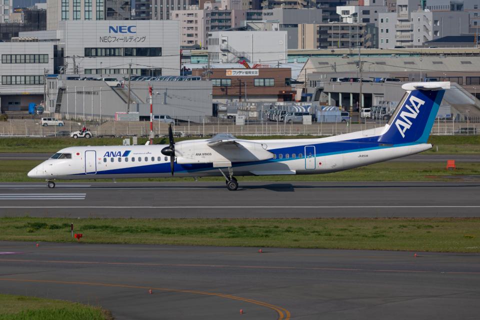 (新)ふぁんとむ改さんのANAウイングス Bombardier DHC-8-400 (JA853A) 航空フォト