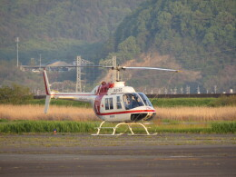 F.YUKIHIDEさんが、岡南飛行場で撮影した朝日航洋 206B JetRanger IIの航空フォト(飛行機 写真・画像)