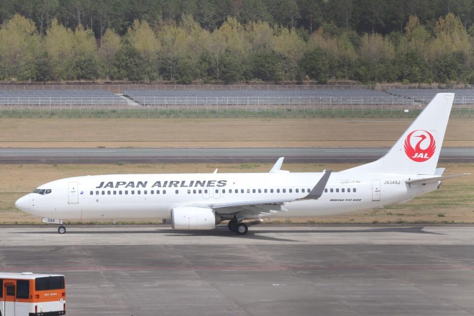 Yuseiさんの日本航空 Boeing 737-800 (JA349J) 航空フォト