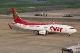 kan787allさんが、福岡空港で撮影したティーウェイ航空 737-8ASの航空フォト(飛行機 写真・画像)
