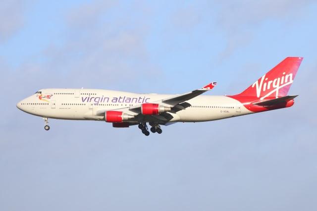 S.Hayashiさんが、ロンドン・ガトウィック空港で撮影したヴァージン・アトランティック航空 747-443の航空フォト(飛行機 写真・画像)