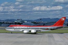 Gambardierさんが、名古屋飛行場で撮影したノースウエスト航空 747-451の航空フォト(飛行機 写真・画像)