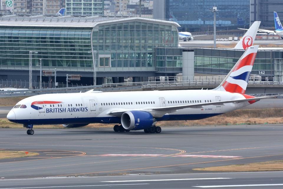 サンドバンクさんのブリティッシュ・エアウェイズ Boeing 787-9 (G-ZBKH) 航空フォト