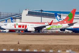 KoshiTomoさんが、成田国際空港で撮影したティーウェイ航空 737-8Q8の航空フォト(飛行機 写真・画像)