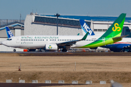 KoshiTomoさんが、成田国際空港で撮影した春秋航空日本 737-8ALの航空フォト(飛行機 写真・画像)
