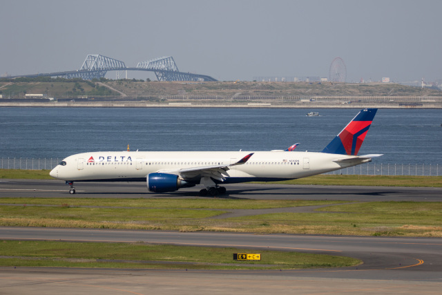 どりーむらいなーさんが、羽田空港で撮影したデルタ航空 A350-941の航空フォト(飛行機 写真・画像)