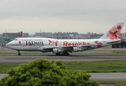 tsubameさんが、福岡空港で撮影したJALウェイズ 747-346の航空フォト(飛行機 写真・画像)