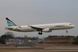 磐城さんが、成田国際空港で撮影したエアプサン A321-231の航空フォト(飛行機 写真・画像)
