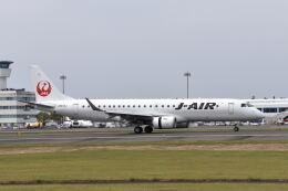 ワイエスさんが、鹿児島空港で撮影したジェイエア ERJ-190-100(ERJ-190STD)の航空フォト(飛行機 写真・画像)